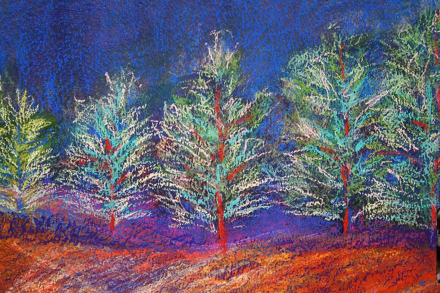 Landscape Painting - Tree Line by Karin Eisermann