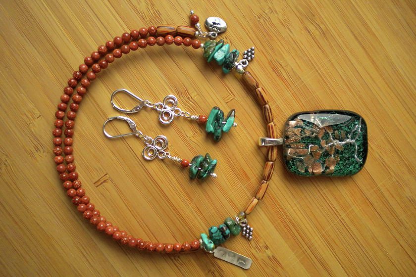 Tree Necklace And Earings Jewelry