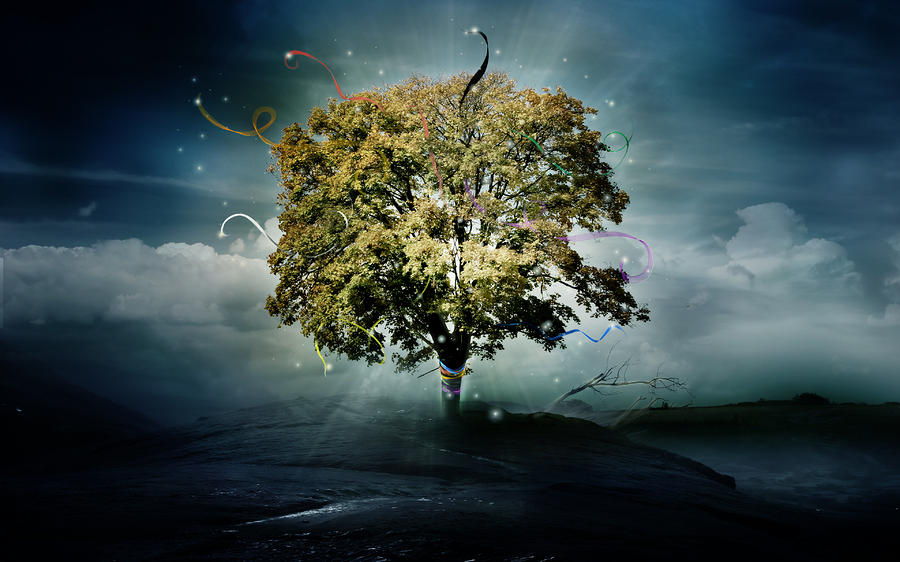 Tree Of Hope Digital Art  - Tree Of Hope Fine Art Print