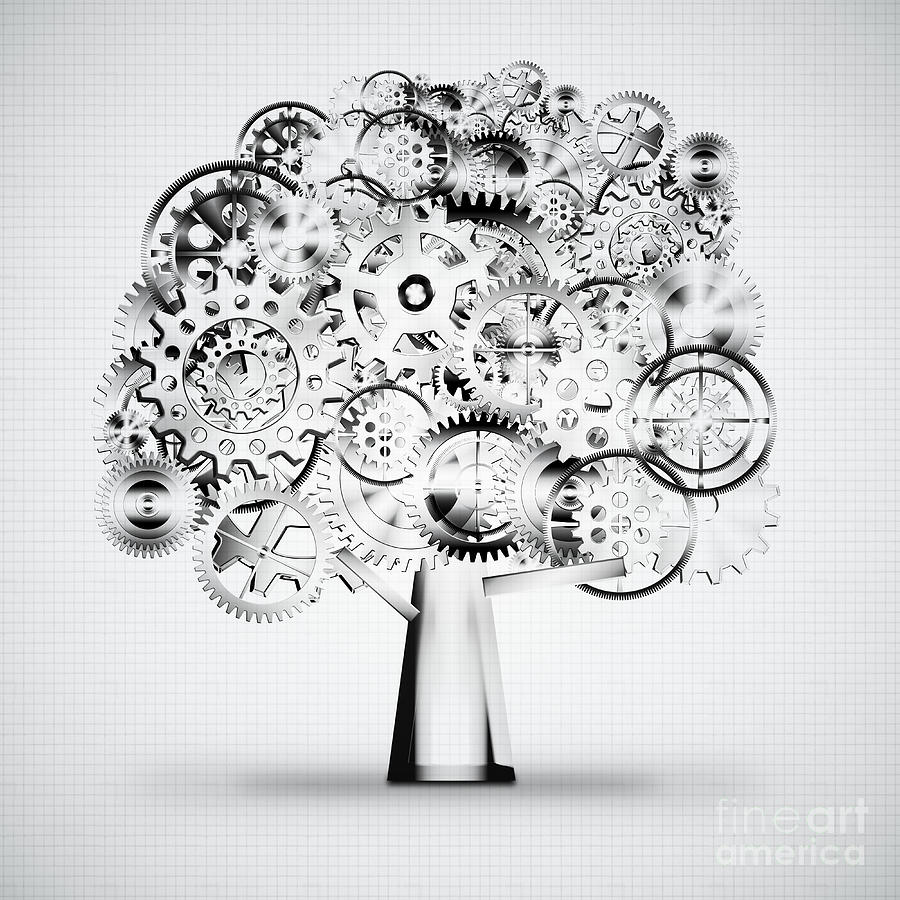 Tree Of Industrial Photograph  - Tree Of Industrial Fine Art Print