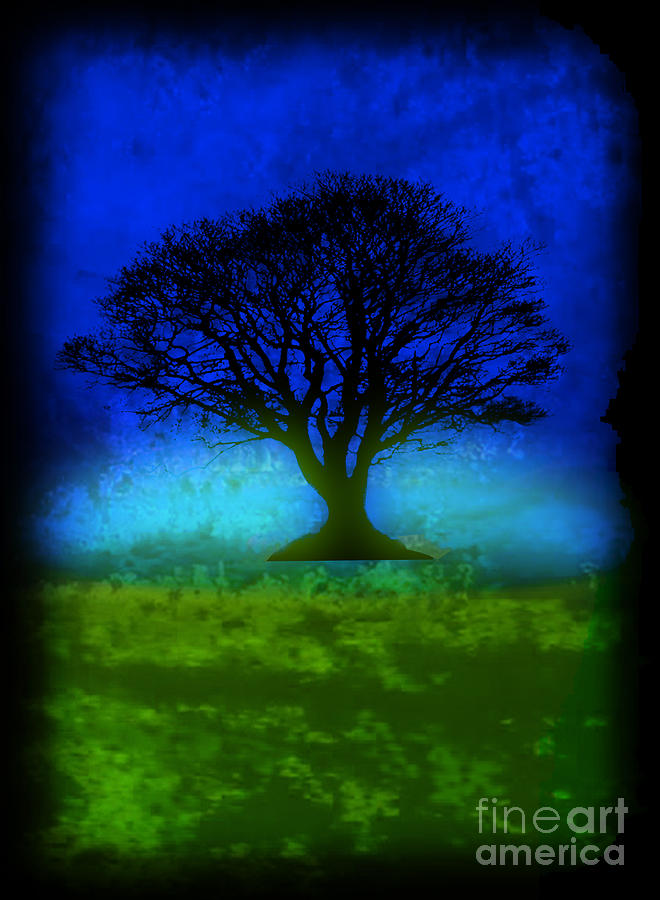 Tree Of Life - Blue Skies Painting