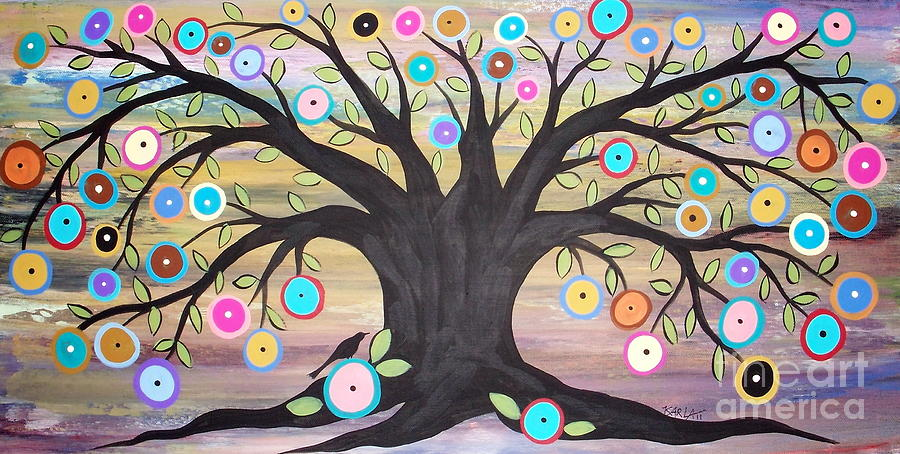Tree Of Life And Bird Painting  - Tree Of Life And Bird Fine Art Print