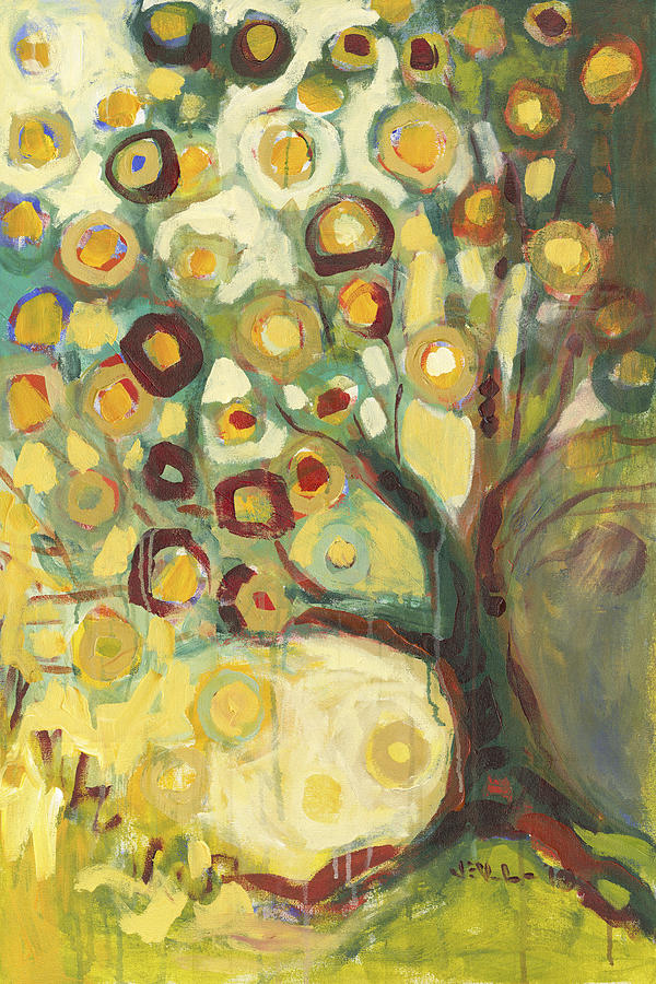 Tree Of Life In Autumn Painting  - Tree Of Life In Autumn Fine Art Print