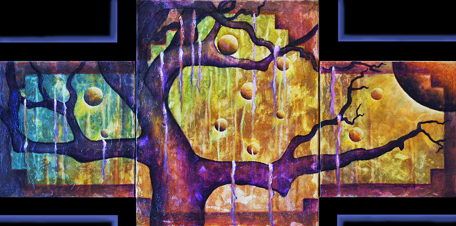 Tree Of Life Series Enlightenment Painting  - Tree Of Life Series Enlightenment Fine Art Print