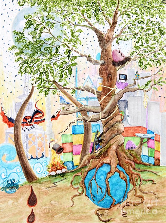 Tree Of Life Spent Painting