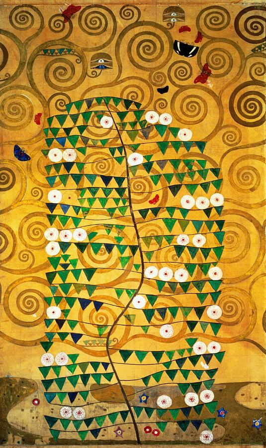 Tree Of Life Stoclet Frieze Painting  - Tree Of Life Stoclet Frieze Fine Art Print
