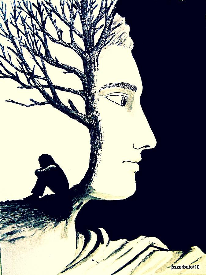 Tree Of Self Insight Digital Art  - Tree Of Self Insight Fine Art Print