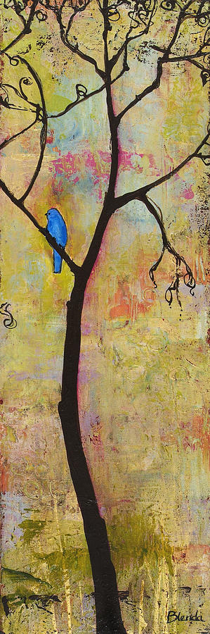 Tree Print Triptych Section 3 Painting