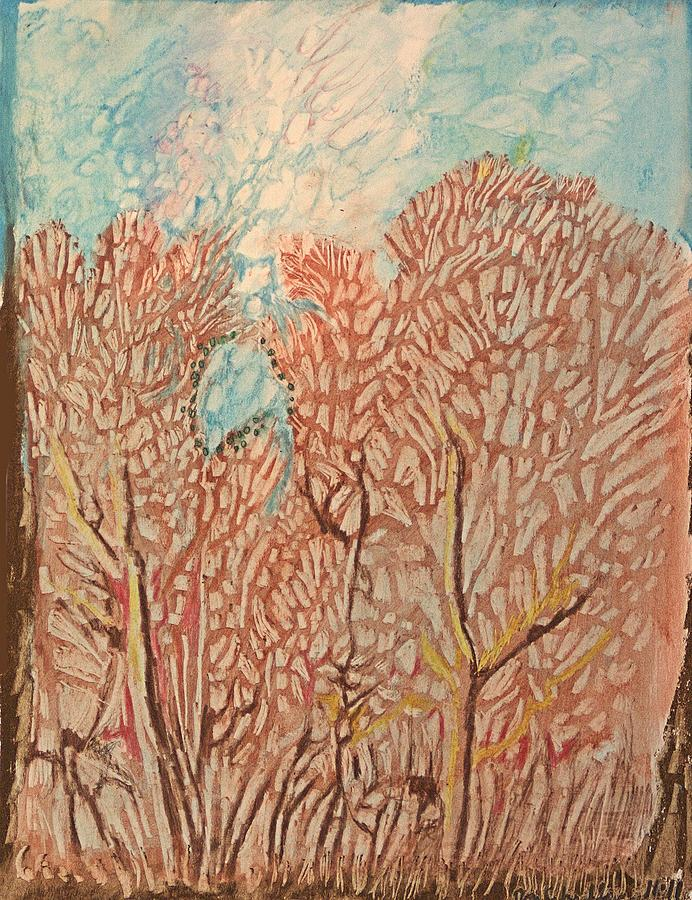 Autumn Drawing - Tree Tops by Don Schaeffer