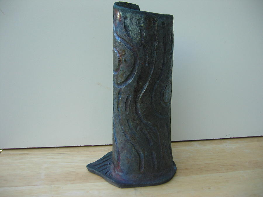 Tree Trunk Vase Ceramic Art  - Tree Trunk Vase Fine Art Print