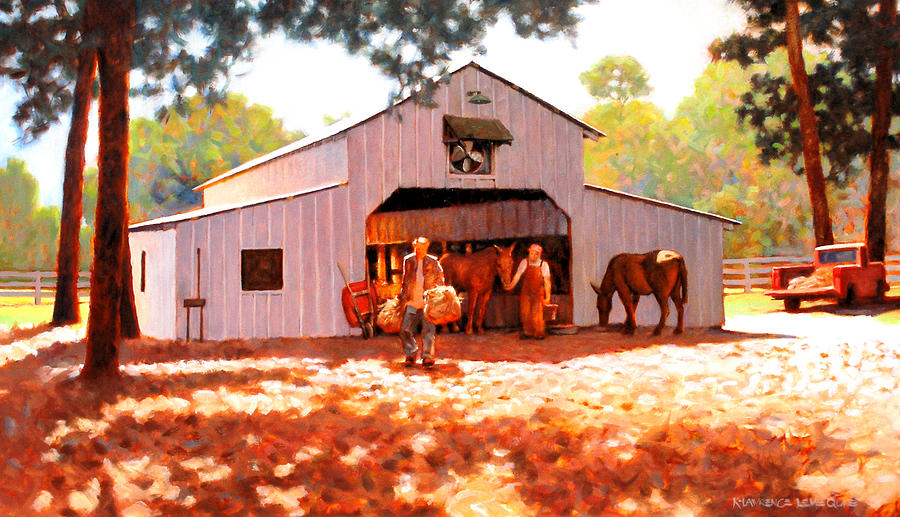 Treece Barn Painting  - Treece Barn Fine Art Print