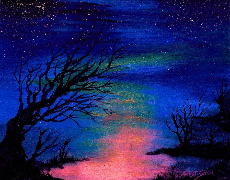 easy night scene paintings - photo #19