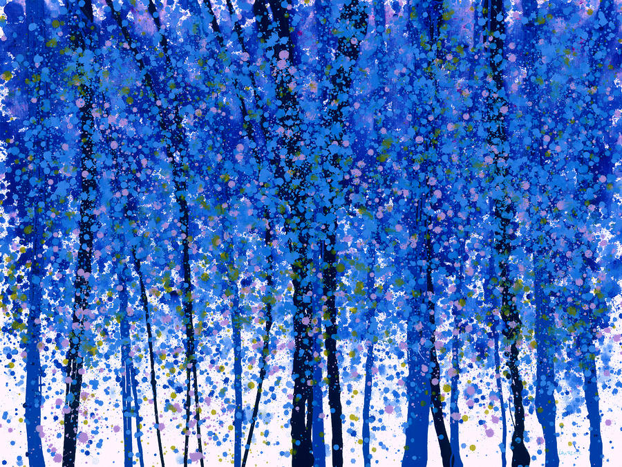 Trees At Twilight Ix Painting  - Trees At Twilight Ix Fine Art Print