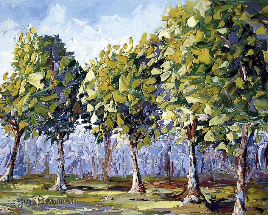 Abstract Oil Paintings Trees