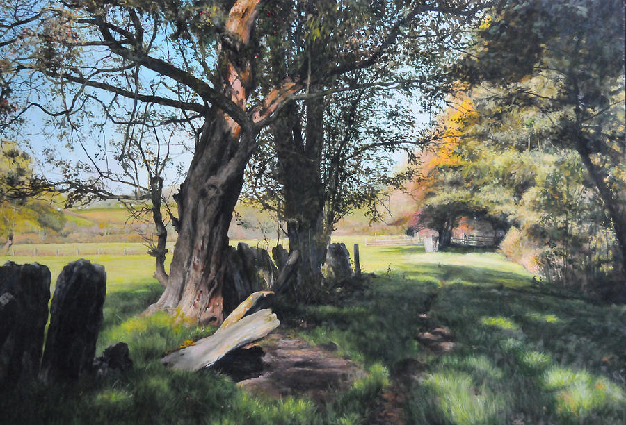Trees Near Rhug. Painting  - Trees Near Rhug. Fine Art Print