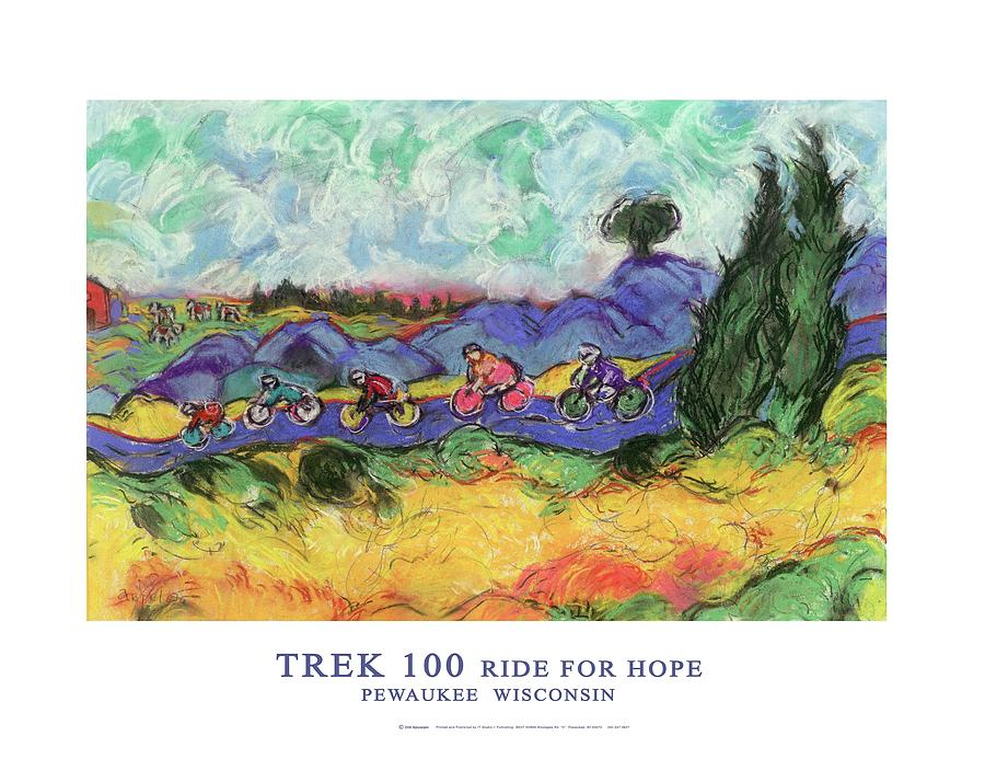 Trek 100 Poster Drawing  - Trek 100 Poster Fine Art Print