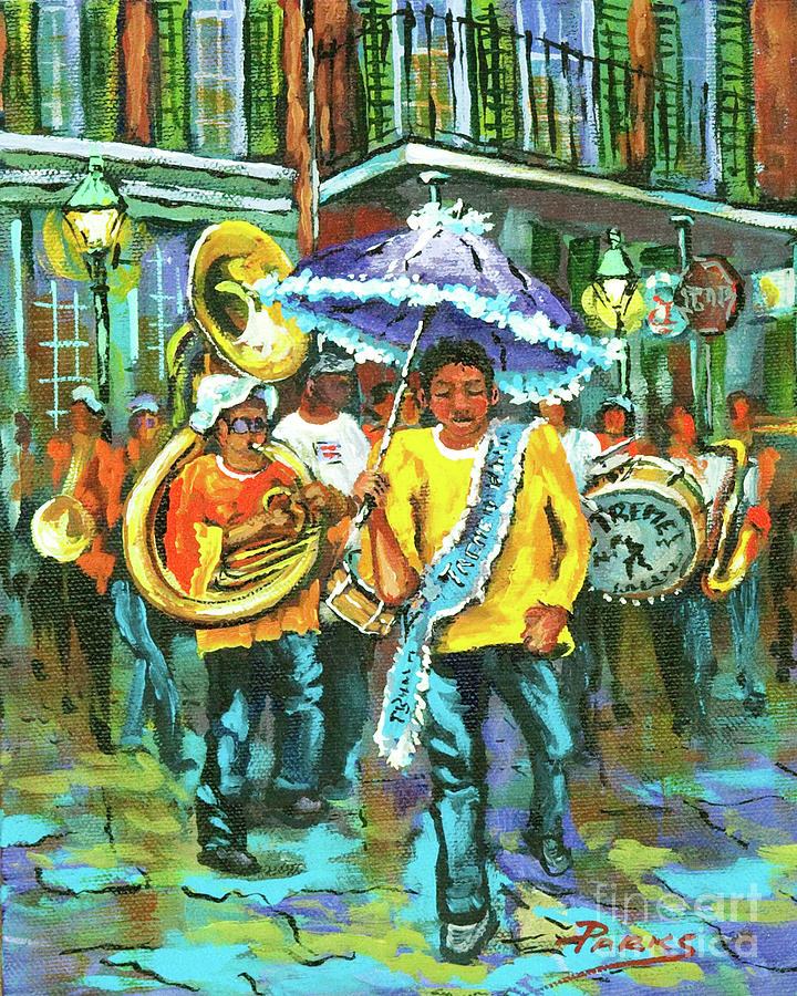 Treme Brass Band Painting  - Treme Brass Band Fine Art Print