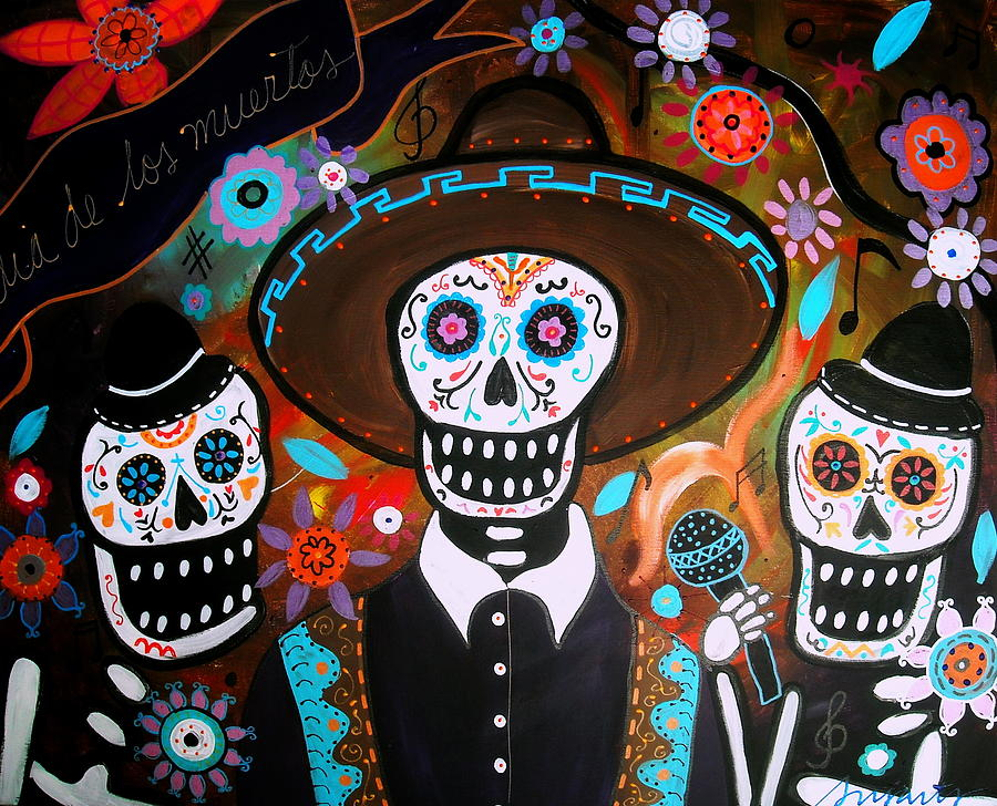 Tres Mariachis Painting