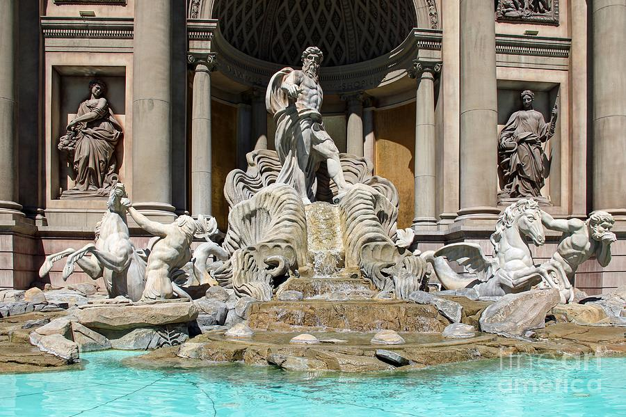 Trevi Fountain At Caesars Palace Photograph  - Trevi Fountain At Caesars Palace Fine Art Print