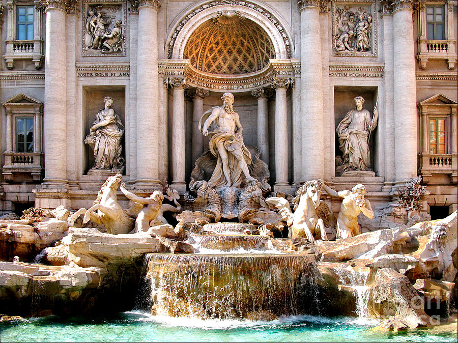 Trevi Fountain. Rome Photograph  - Trevi Fountain. Rome Fine Art Print