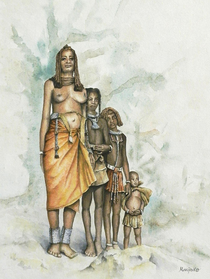 Tribal Family Painting - Tribal Family Fine Art Print - Manjiri R B