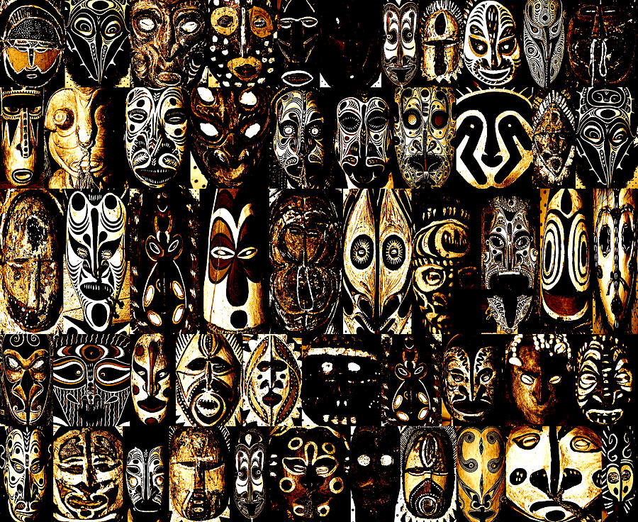 Tribal Masks Of Papua New Guinea Photograph