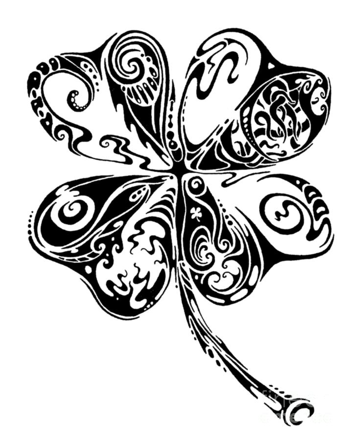 Tribal Shamrock Drawing