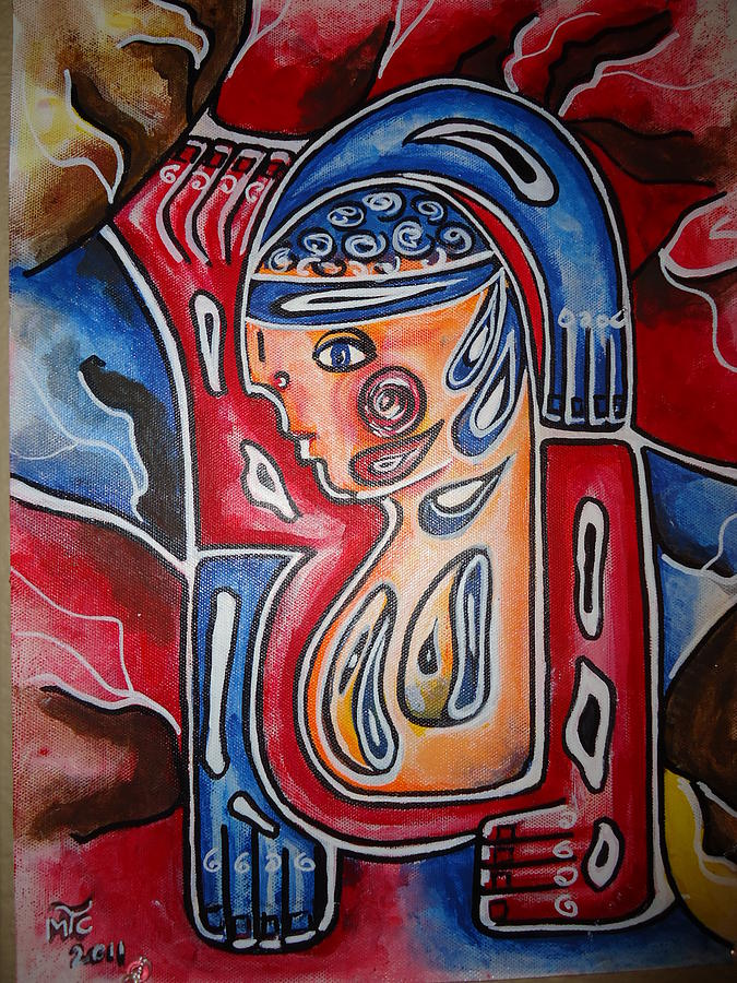 Tribal Soldier Painting