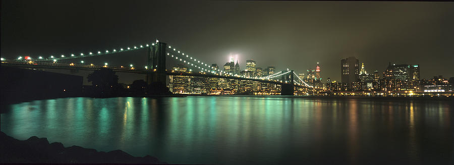 911 Photograph - Tribute In Light, Lower Manhattan On by Axiom Photographic