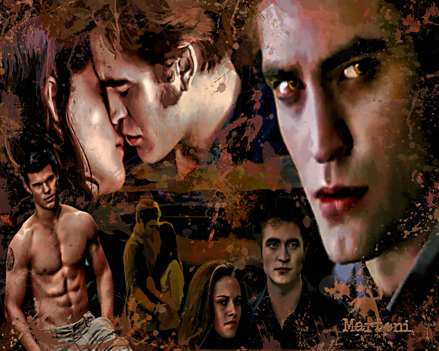 Tribute To Eclipse Pattinson Stewart Lautner Painting