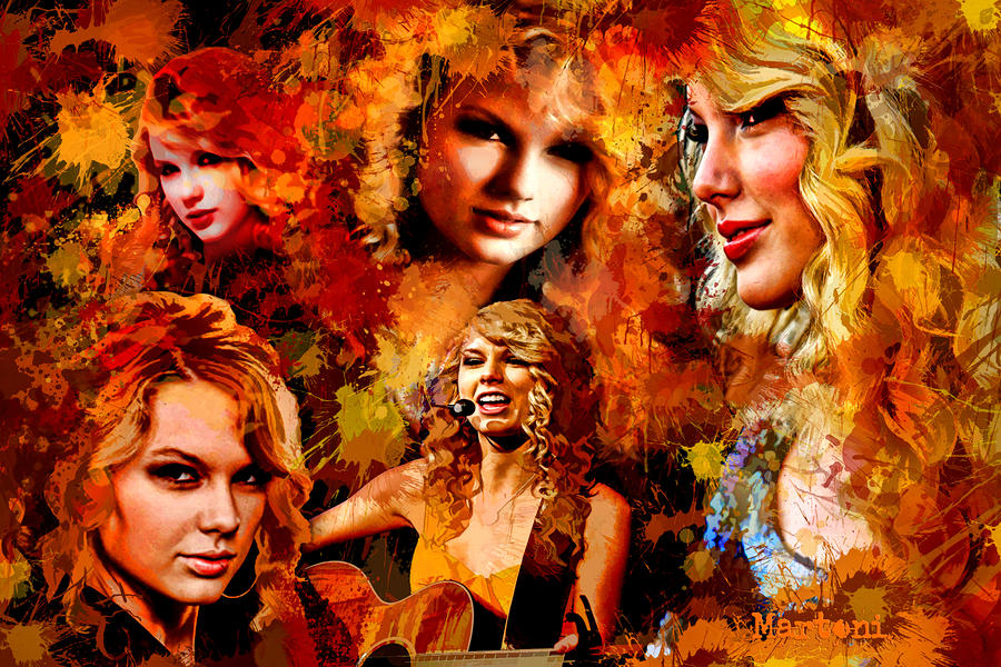 Tribute To Taylor Swift Painting  - Tribute To Taylor Swift Fine Art Print