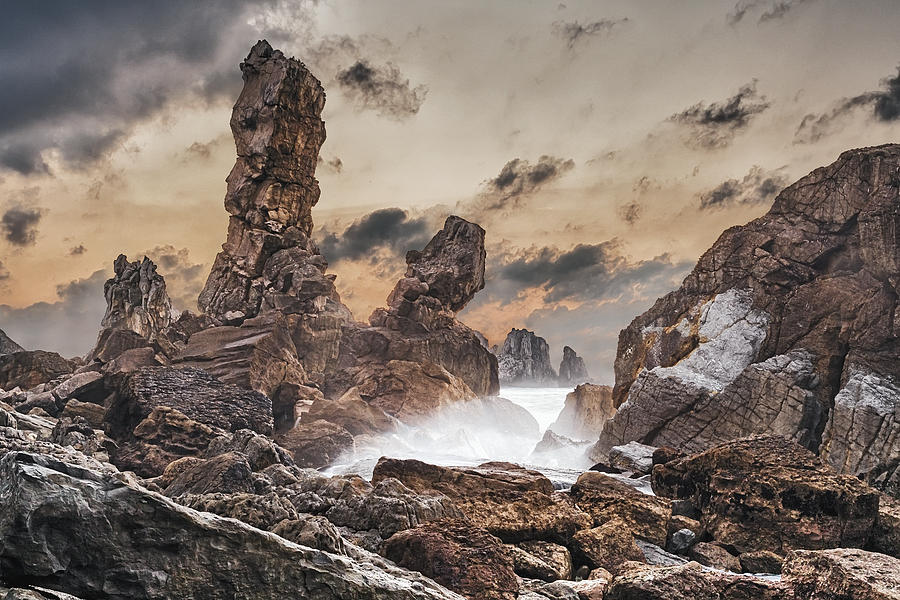 Atlantic Ocean Photograph - Trident by Evgeni Dinev