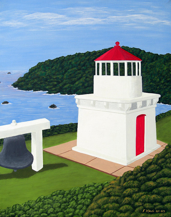 Trinidad Head Lighthouse Painting  - Trinidad Head Lighthouse Fine Art Print