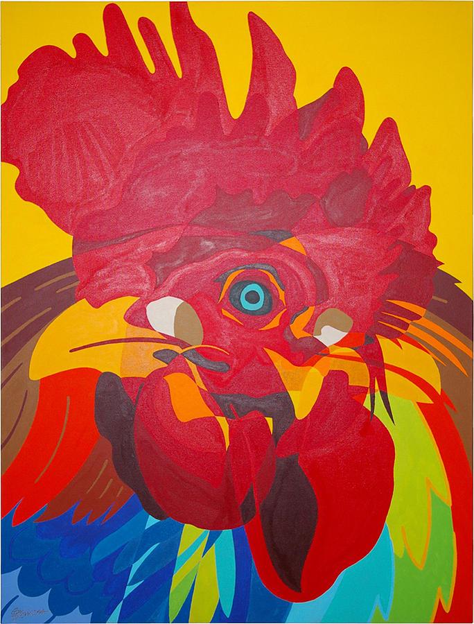 Trio De Gallos Painting