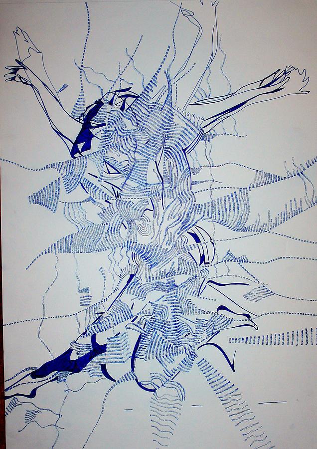 Jesus Painting - Triple Jump by Gloria Ssali