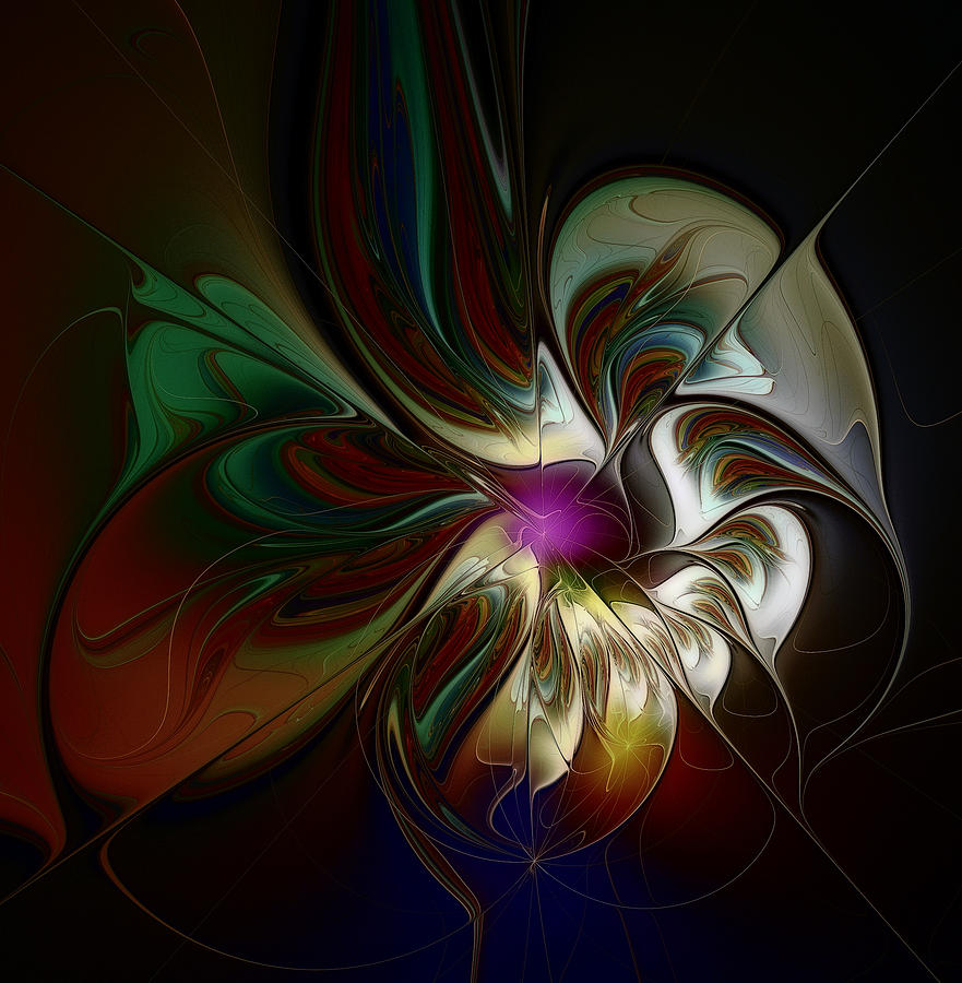 trippy flower digital art