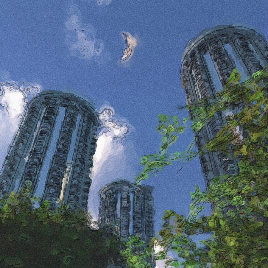 Triton Towers Digital Art  - Triton Towers Fine Art Print