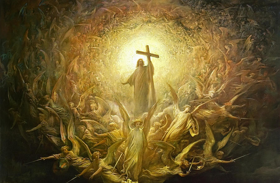 Triumph Of Christianity Detail Painting  - Triumph Of Christianity Detail Fine Art Print