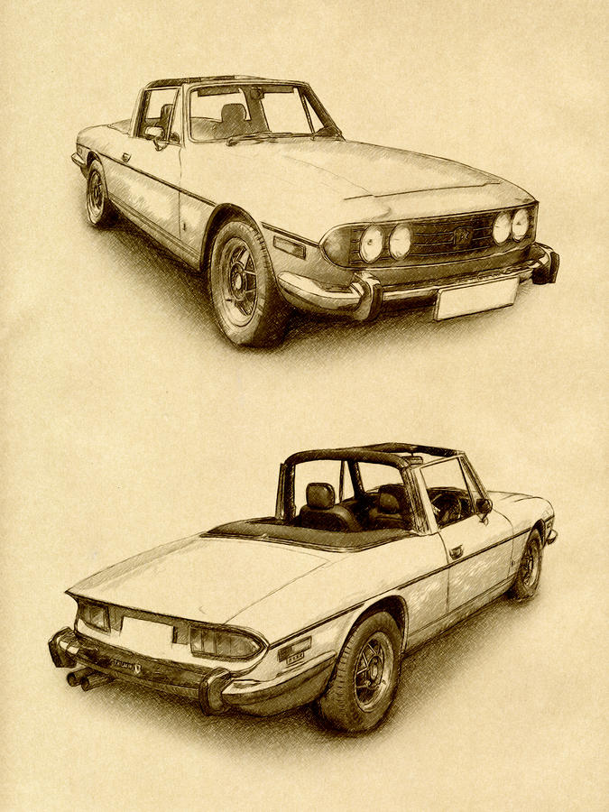Triumph Stag Digital Art