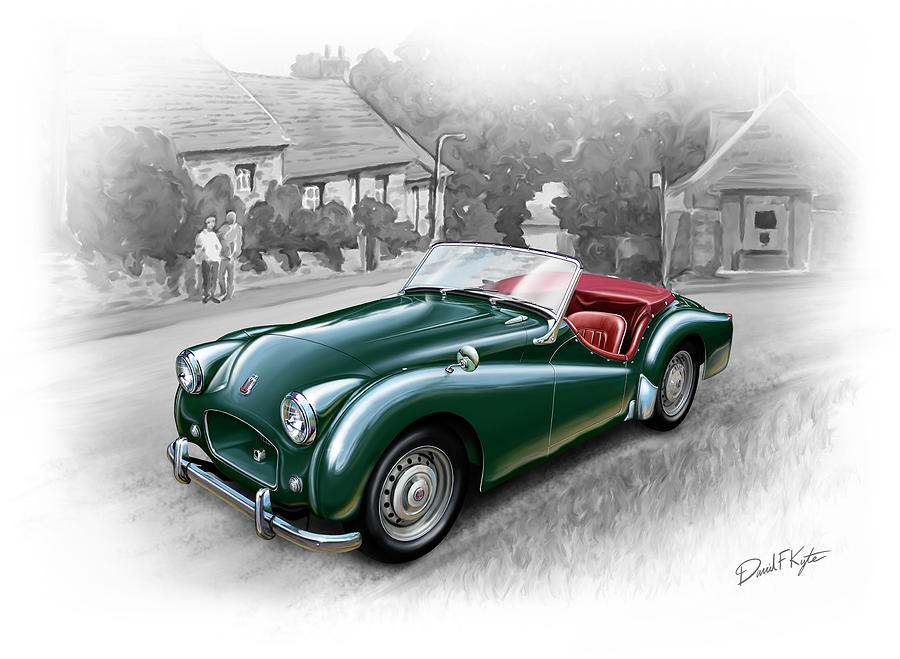 Triumph Tr-2 Sports Car Painting
