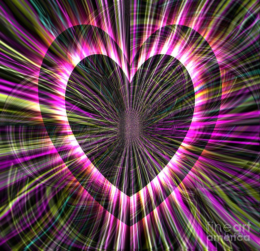 Triumphant Heart Digital Art  - Triumphant Heart Fine Art Print