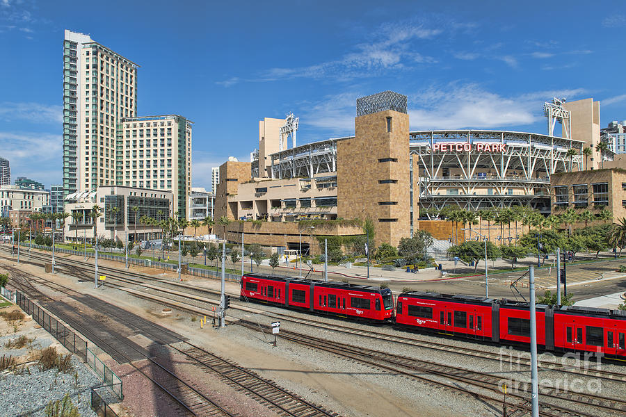 Petco Park Photograph - Trolley To Petco Park by Alan Crosthwaite