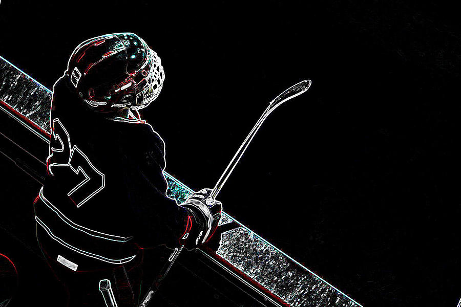Tron Hockey - 1 Photograph  - Tron Hockey - 1 Fine Art Print