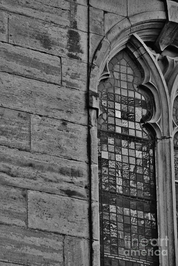Edinburgh Scotland Scottish Old Town New Town Black And White Photograph Photography Mark Johnstone Architecture Tron Church High Street Royal Mile Photograph - Tron by Mark Johnstone