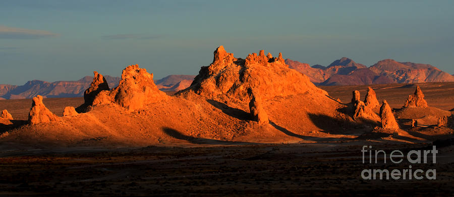 Trona Pinnacles Panorama Photograph