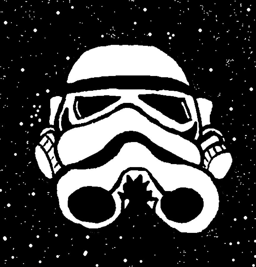 Trooper On Starry Sky Digital Art  - Trooper On Starry Sky Fine Art Print
