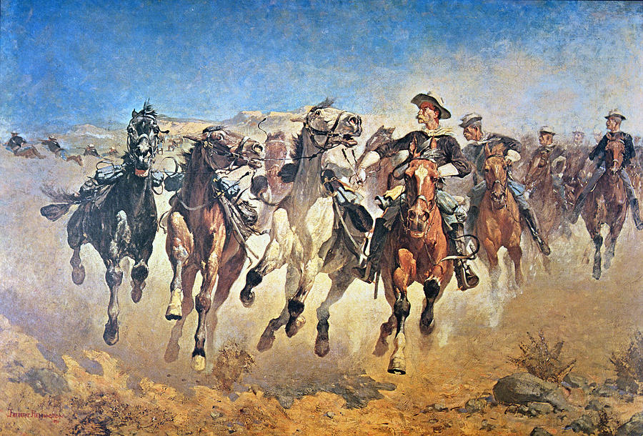 Troopers Moving Painting  - Troopers Moving Fine Art Print