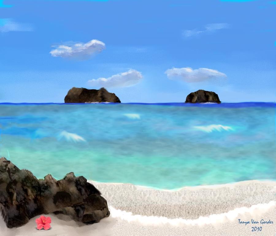 Tropical Beach Digital Art