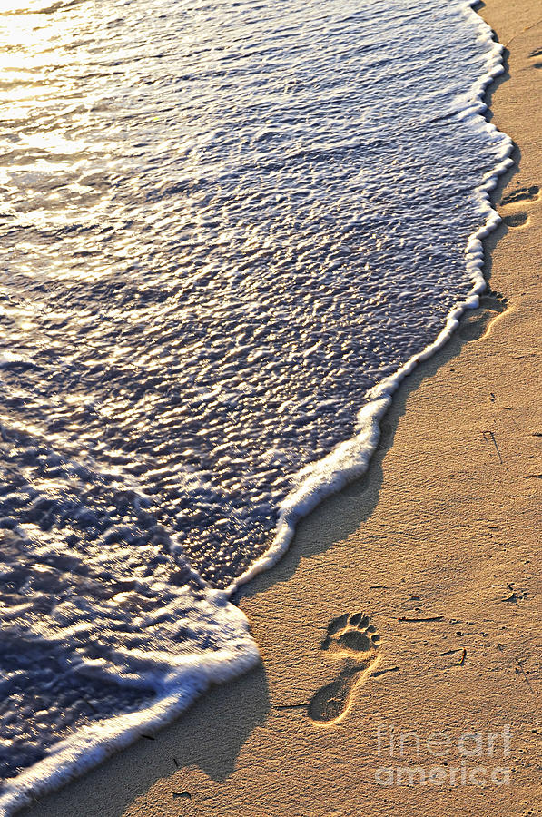 Tropical Beach With Footprints Photograph  - Tropical Beach With Footprints Fine Art Print