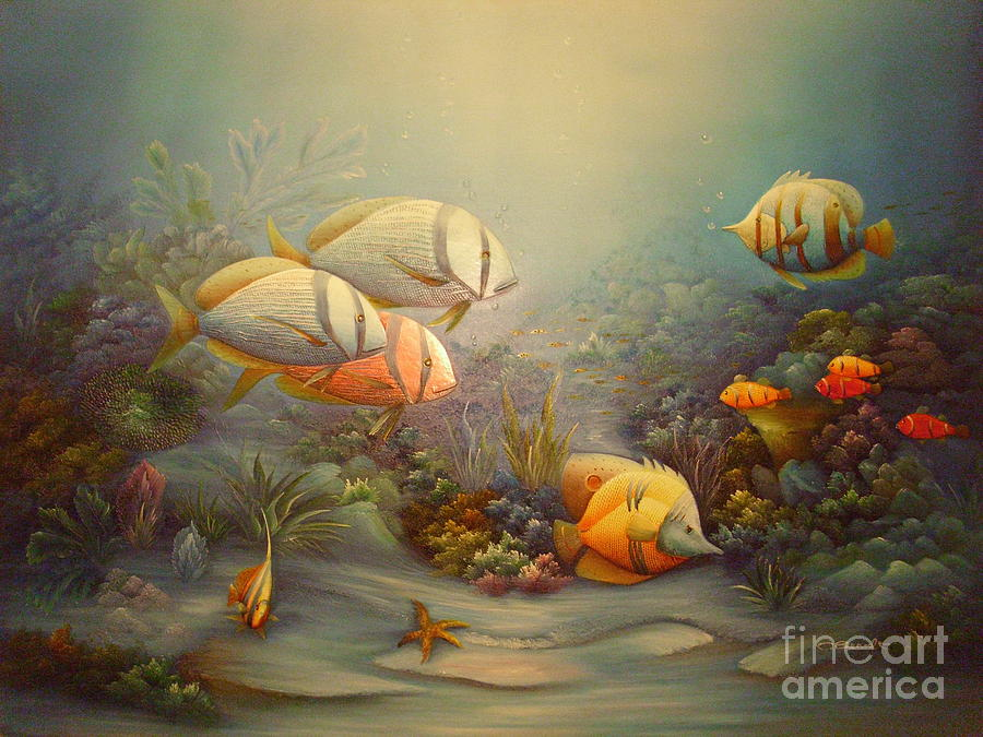 Tropical fish by c benolt for Tropical fish painting